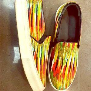 💛💚Celine Multicolor Flat Sneakers
